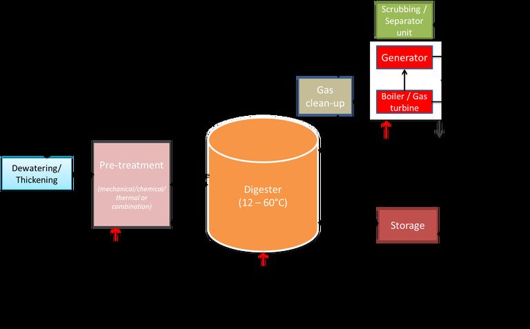 Figure 2.  Anaerobic digestion process schematic