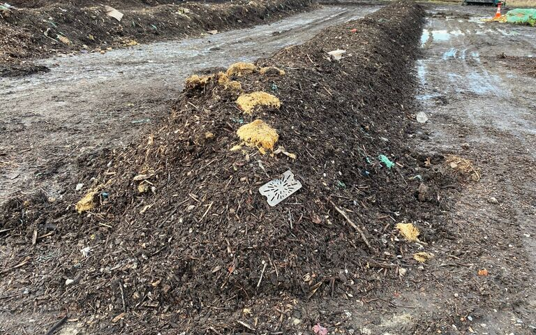 Windrow: long line of composting sludge and bulking agent