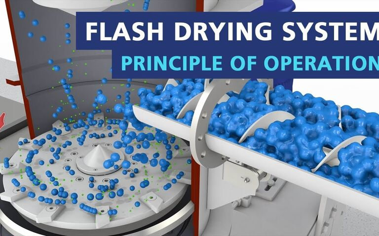Example of a flash dryer for drying slurries