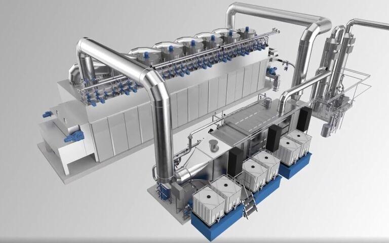 Belt dryer in use at Innsbruck WwTW in Austria, Huber