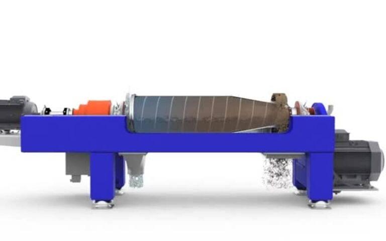 Solid bowl decanting centrifuge, Alfa Laval