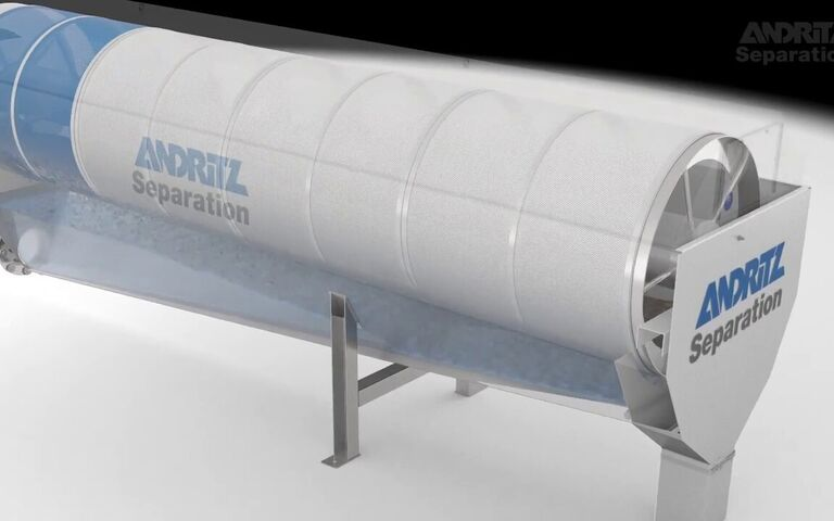 Rotary drum thickener, Andritz