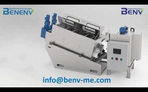 Benenv screw press sludge dewatering